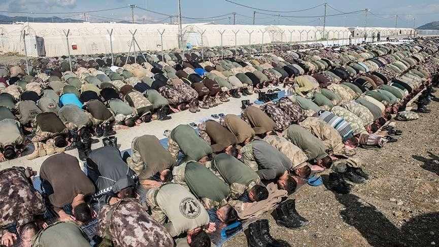 JÖH ve PÖH'ler Afrin'i teröristlerden temizlemek için ant içti