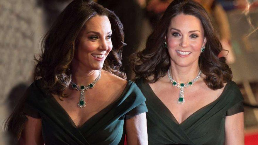 Kate Middleton 71. BAFTA 2018 ödül törenine kıyafet tercihiyle damgasını vurdu