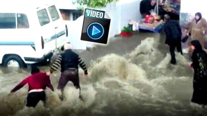 Aydın'da sele kapılan pazarcı kadın yaşadıklarını anlattı