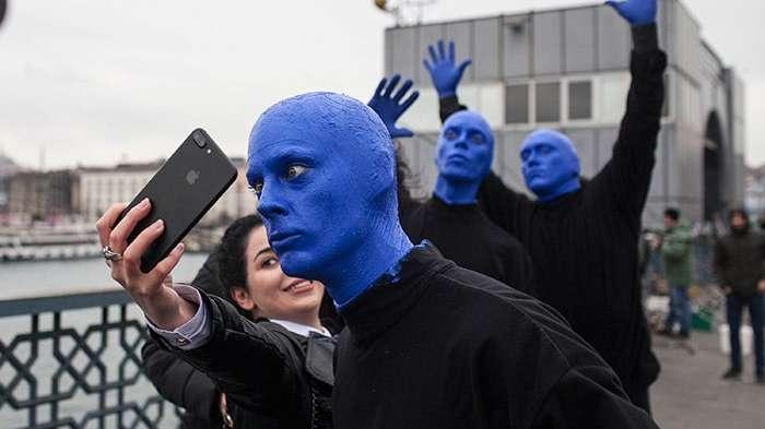 Blue Man Group İstanbul'a hayran kaldı