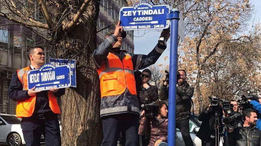 Zeytin Dalı Caddesi'nden sonra diplomaside sokak savaşları