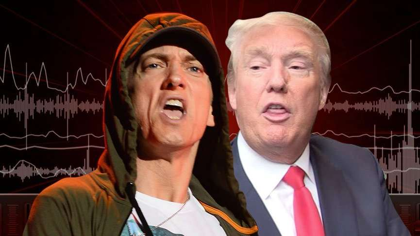 Eminem'den çağrı: 'Ya Trump, ya ben!'