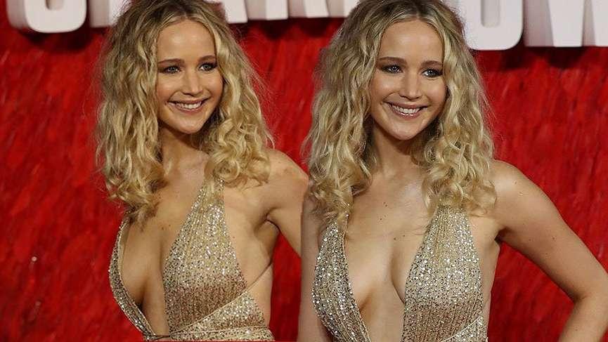 Jennifer Lawrence, filminin prömiyende şıklığıyla göz kamaştırdı