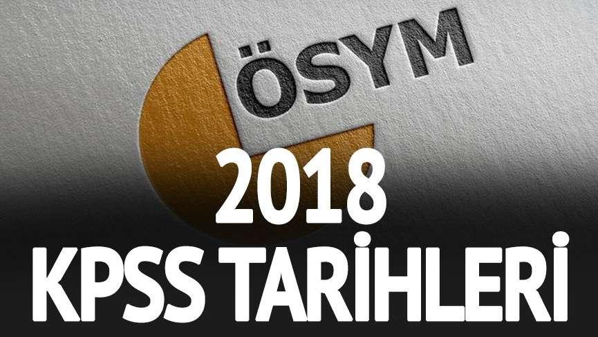 KPSS başvuruları ne zaman? 2018 Lisans, Önlisans ve Ortaöğretim KPSS tarihleri...