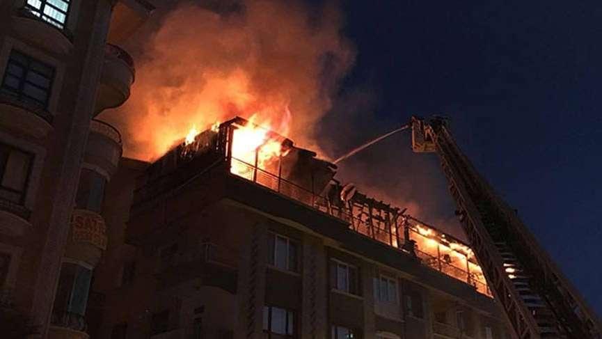Başkentte korkutan yangın!