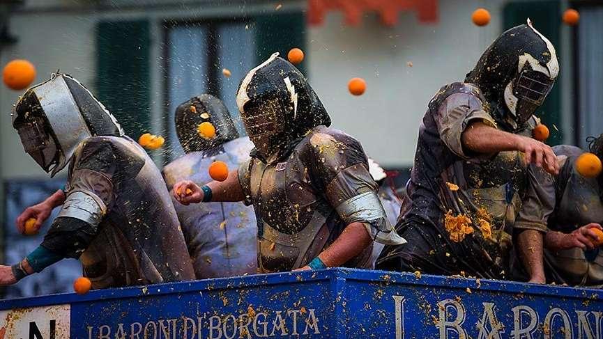 İtalya'nın Portakal Savaşı Festivali