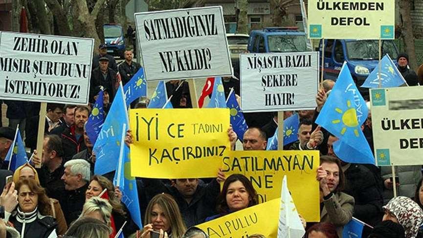 İYİ Parti'den Şeker Fabrikası protestosu!