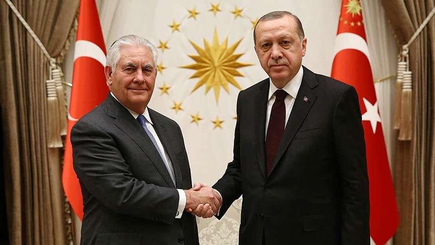 Son Dakika... ABD Dışişleri Bakanı Türkiye'de... Erdoğan-Tillerson görüşmesi sona erdi