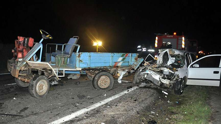 Malkara'da trafik kazası! 1 ölü, 3 yaralı