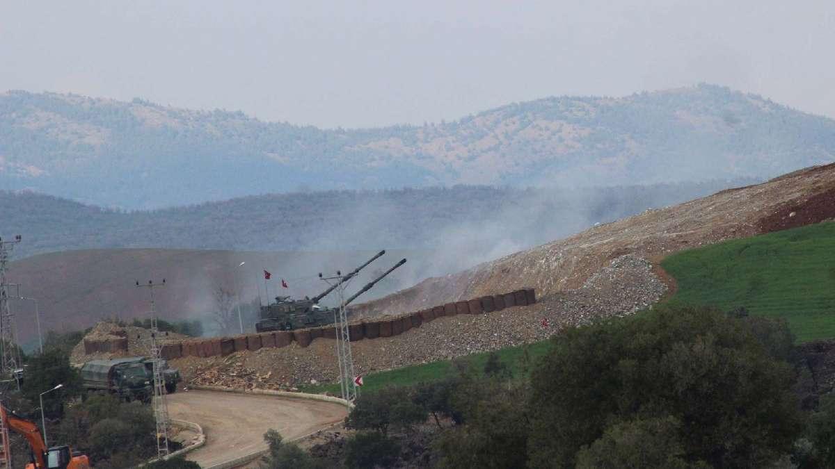 Roket atıldı, TSK Raco Dağı'nı bombardımana tuttu