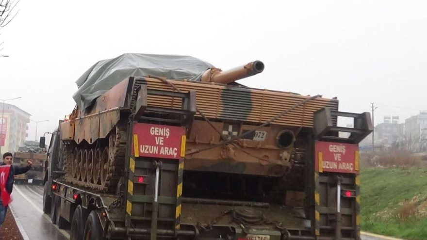 Kilis sınırında askeri hareketlilik