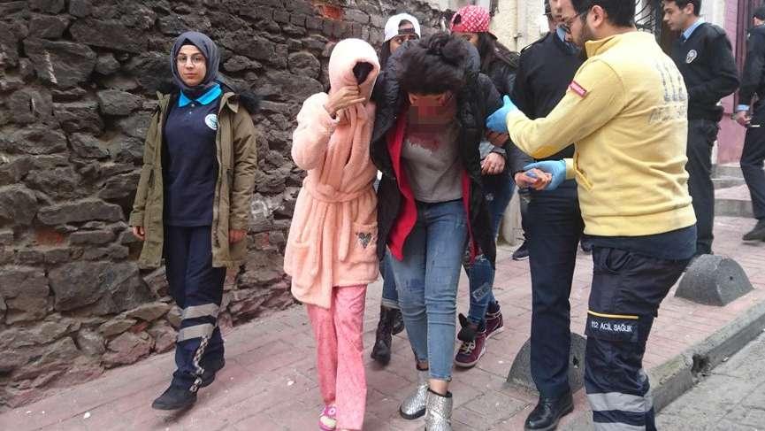 Beyoğlu'nda Faslı kadına bıçaklı saldırı