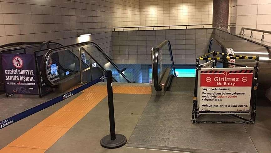 İstanbul metrosunda yürüyen merdiven arızaları bezdirdi