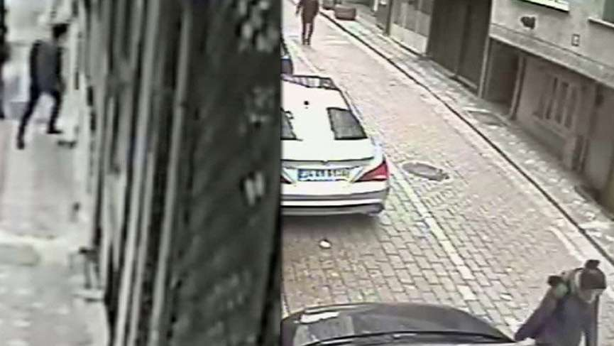 Takip ettiği kıza apartmanda saldırdı! Her anı korkunç…