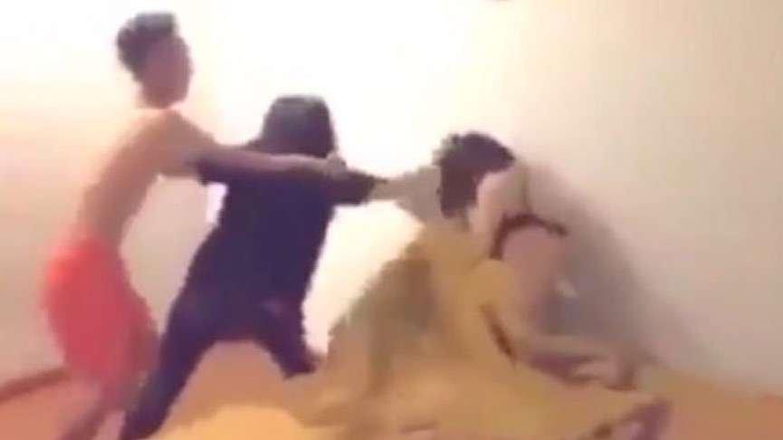 Kocası ve sevgilisini yatakta yakalayan kadının videosu sosyal medyaya damga vurdu