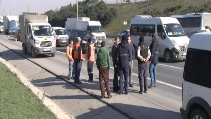 TEM'de kaza: 1 kişi ağır yaralandı