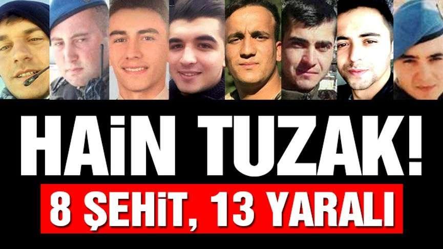 Afrin şehitleri haberi yüreğimizi yaktı! Teröristler pusu kurup 8 askerimizi şehit etti!
