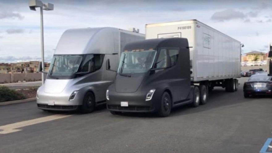Tesla Semi yakalandı!