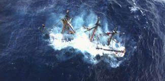 Karayip korsanlarının gemisi battı