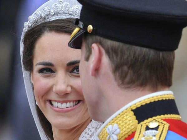 File photograph shows britain's prince william and catherine, duchess