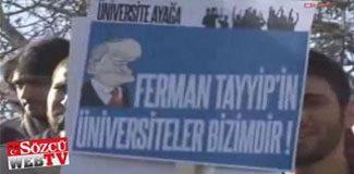 Beyazıt'ta ODTÜ protestosu