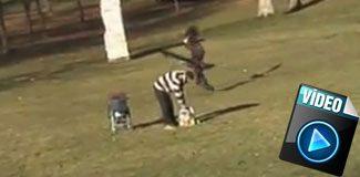 Kartal çocuk kaçırmaya çalıştı