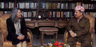 Barzani'den Talabani'nin eşine ziyaret