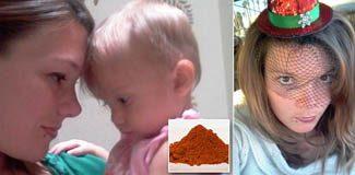 İki yaşındaki kızı biberle öldürdü
