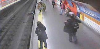 Metroda dehşet anları