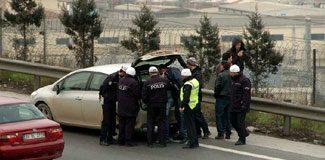 TEM'de hırsız-polis kovalamacası