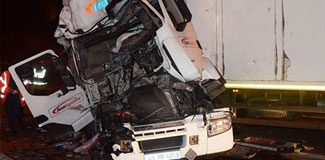 TEM'de TIR kazası