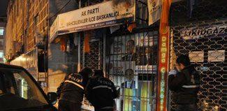 AKP bürosuna molotoflu saldırı