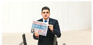 SÖZCÜ'nün manşeti Meclis'te