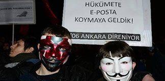 Ankara'da 'sansür' protestosu