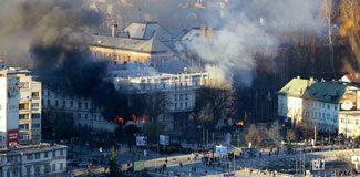 Bosna Hersek yanıyor