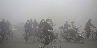 Çin'de hava kirliliği için alarm verildi