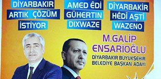 AKP'den Kürtçe seçim pankartları