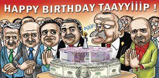Erdoğan 60 yaşına tapelerle girdi