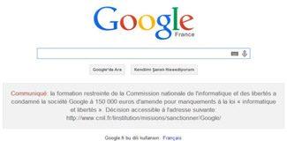 Fransızlar Google'ın imajını fena çizdi