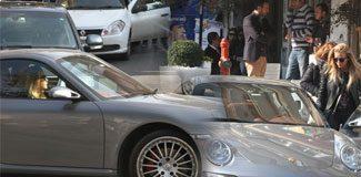 İvana Sert'in Porsche'u