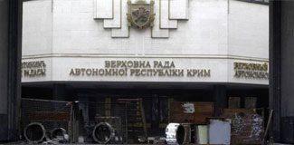 Kırım'da Başbakanlık ve parlamento düştü!