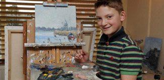 Küçük ressam 11 yaşında servet kazandı