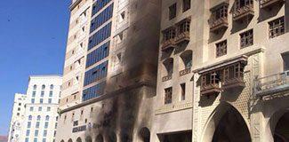 Umrecilerin otelinde yangın dehşeti!