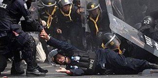 Polisi el bombasıyla havaya uçurdular