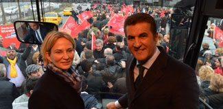 Sarıgül ve Aylin Kotil Beyoğlu'nda
