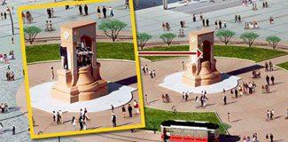 Taksim'de Atatürk unutkanlığı