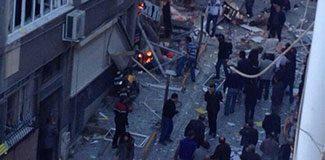 Taksim Kazancı Yokuşu'nda şiddetli patlama
