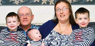 Üçüzlerinin 3'üncüsü 5 yıl sonra doğdu