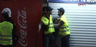 Polise polis müdahalesi
