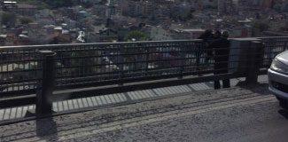 Köprüde intihar girişimi!